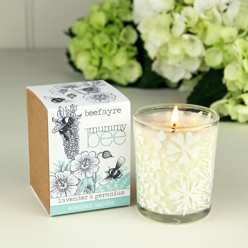 Beefayre - Mummy Bee Lavender and Geranium Votive Candle